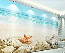 Tapete 3D Fototapete Meeresstrand Mit Blauem