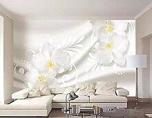 Tapete 3D Fototapete Moderne Blumenseidenmuster