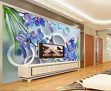 Tapete 3D Fototapete Orchidee Tapeten 3D Effekt