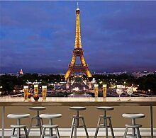 Tapete 3D Fototapete Paris-Eiffelturm-Nachtansicht