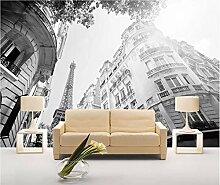Tapete 3D Fototapete Paris-Straßeneiffelturm