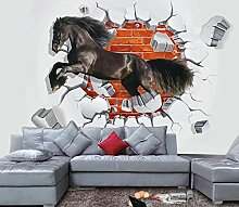 Tapete 3D Fototapete Pferd kreativer Raum Tapeten