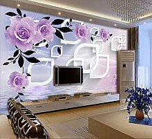 Tapete 3D Fototapete Rose Tapeten 3D Effekt
