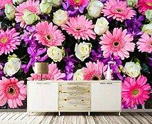 Tapete 3D Fototapete Rosen-Chrysantheme Der