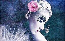 Tapete 3D Fototapete Rosen-Schönheitsporträt