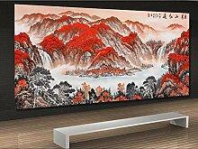 Tapete 3D Fototapete Rote Berge Und Viel Glück