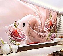 Tapete 3D Fototapete Seidenblumen Tapeten 3D