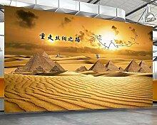 Tapete 3D Fototapete Seidenstraßen-Wüste