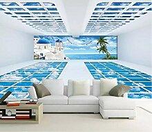 Tapete 3D Fototapete Super Raum Ägäisches Meer