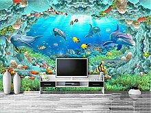 Tapete 3D Fototapete Tiefseewelt Tapeten 3D Effekt