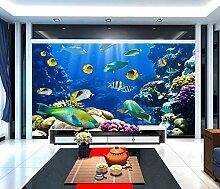 Tapete 3D Fototapete Unterwasserwelt Tapeten 3D