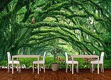 Tapete 3D Fototapete Waldlandschaft Grün Und