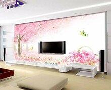 Tapete 3D Fototapete Wandbild Handgemalter Rosa