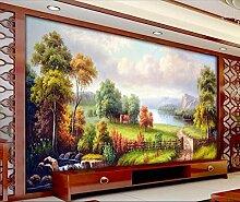 Tapete 3D Fototapete Wandbild Wald Gras