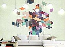 Tapete 3D Fototapete Wohnzimmer Mit Geometrischem