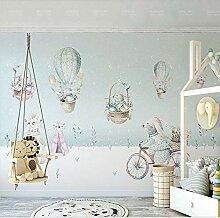 Tapete 3D FototapeteHeißluftballon Kinderzimmer