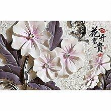 Tapete 3d für Raum Blumenwandreliefs Fototapete