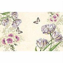 Tapete 3d für Raum Handgemalte Tulpen Purpurrote