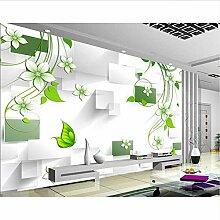 Tapete 3d für Raum Mode blüht grünes