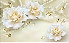 Tapete 3d für Raum Rose Silk Background Tapete