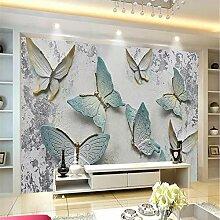 Tapete 3D Für Wände 3D Schmetterling Geprägt