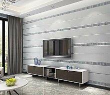 Tapete 3D Gestreiftes Grau Muster Wohnzimmer,