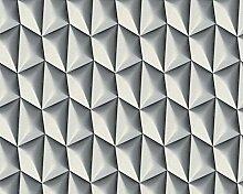 Tapete 3d grau mit täuschend laminiert. Kaleidos 19510–18