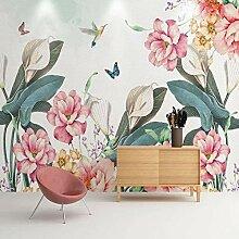 Tapete 3D handgemalte Pflanze Blumen Wandmalerei