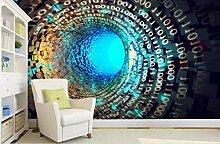 Tapete 3D, Heimwerkertunnel 3D-Tapete, Für Wände
