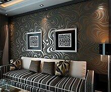 Tapete 3D Linie braun schwarz Muster Wohnzimmer,