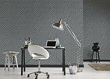 Tapete 3d mit Kugeln grauen für moderne Räume. Kaleidos 19510–31Vinyl waschbar Effeline