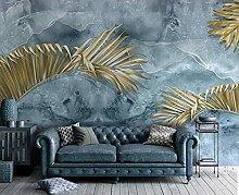 Tapete 3D Pflanze Golden Tapeten 3D Effekt