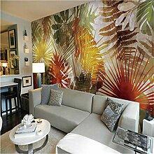 Tapete 3D, Südostasiatischer Stil Palmblattkunst