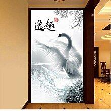 Tapete 3D Swan Crown Hd Dekoration Malerei