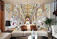 Tapete 3D Tapeten Goldene Architekturkirche