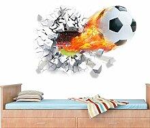 Tapete 3D Vlies Seidentuch 3D Stereo Fußball