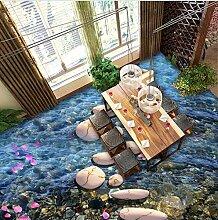 Tapete 3D Vlies Seidentuch Gang Creek Lotus Bridge