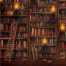 Tapete 3D Wallpaper Klassisches Bücherregal