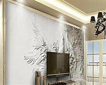 Tapete 3D Wand Relief Pfau Schlafzimmer Wohnzimmer