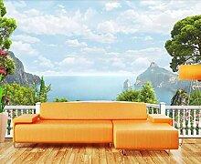 Tapete 3D Wandbild Balkon Mit Meerblick Fototapete