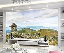 Tapete 3D Wandbild Berglandschaft Fototapete 3D