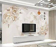 Tapete 3D Wandbild Blumenkasten Fototapete 3D