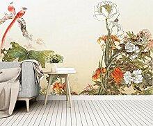 Tapete 3D Wandbild Chinesische Mit Filigran