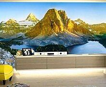 Tapete 3D Wandbild Gebirgsnaturlandschaft