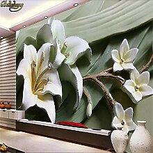 Tapete, 3D Wandbild, Hd Wandgemälde 3D Lilie