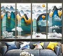 Tapete 3D Wandbild Helle Chinesische Goldene