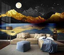 Tapete 3D Wandbild Luxuriöse Goldene Stimmung In