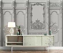 Tapete 3D Wandbild Weißes Leder Aus Geschnitztem