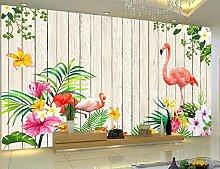 Tapete 3D Wandbild XXL Liebe Flamingo-Garten