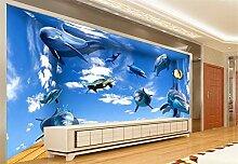 Tapete 3D Wandbild XXL Unterwasser-Delfine